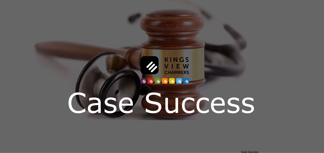 Kings View Chambers success in GMC suspension case